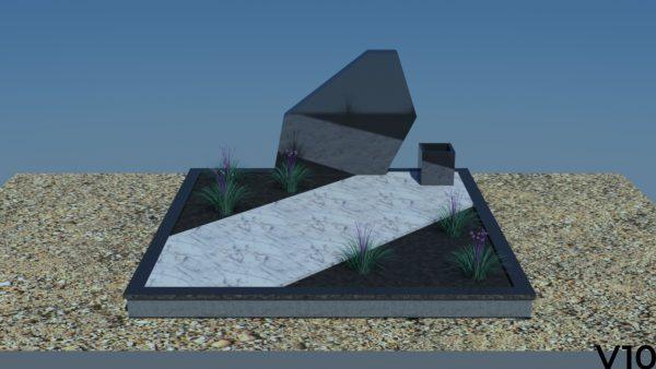 paminklai gamyba Granito plokštė, akmens plokštė, dengimas, projektas, vizualizacija