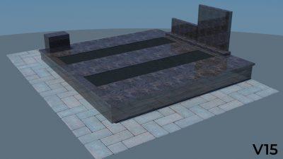 Dengimas plokšte, granito plokštė, dengimas granito plokštė, dengimas akmens plokšte, Paminklas, projektas vizualizacija