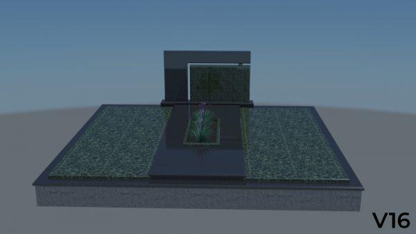 Dengimas plokšte, granito plokštė, dengimas granito plokštė, dengimas akmens plokšte, Paminklas, projektas, vizualizacija