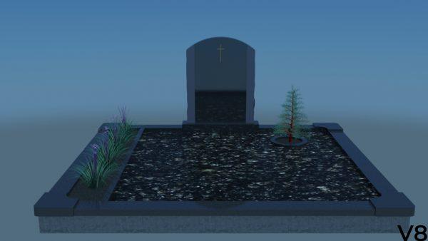 Projektas vizualizacija, kapų tvarkymas, paminklai, antkapiai