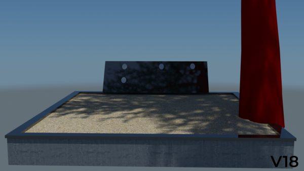 Vienos dalies paminklas Projektas vizualizacija, projektavimas
