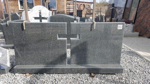 dviejų dalių juodo granito paminklas