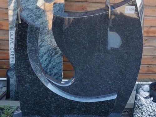 Dviejų dalių paminklas Miki Maki granito