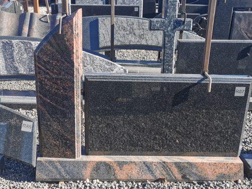Dviejų dalių paminklas Aurora ir Gabro Diabaz granito