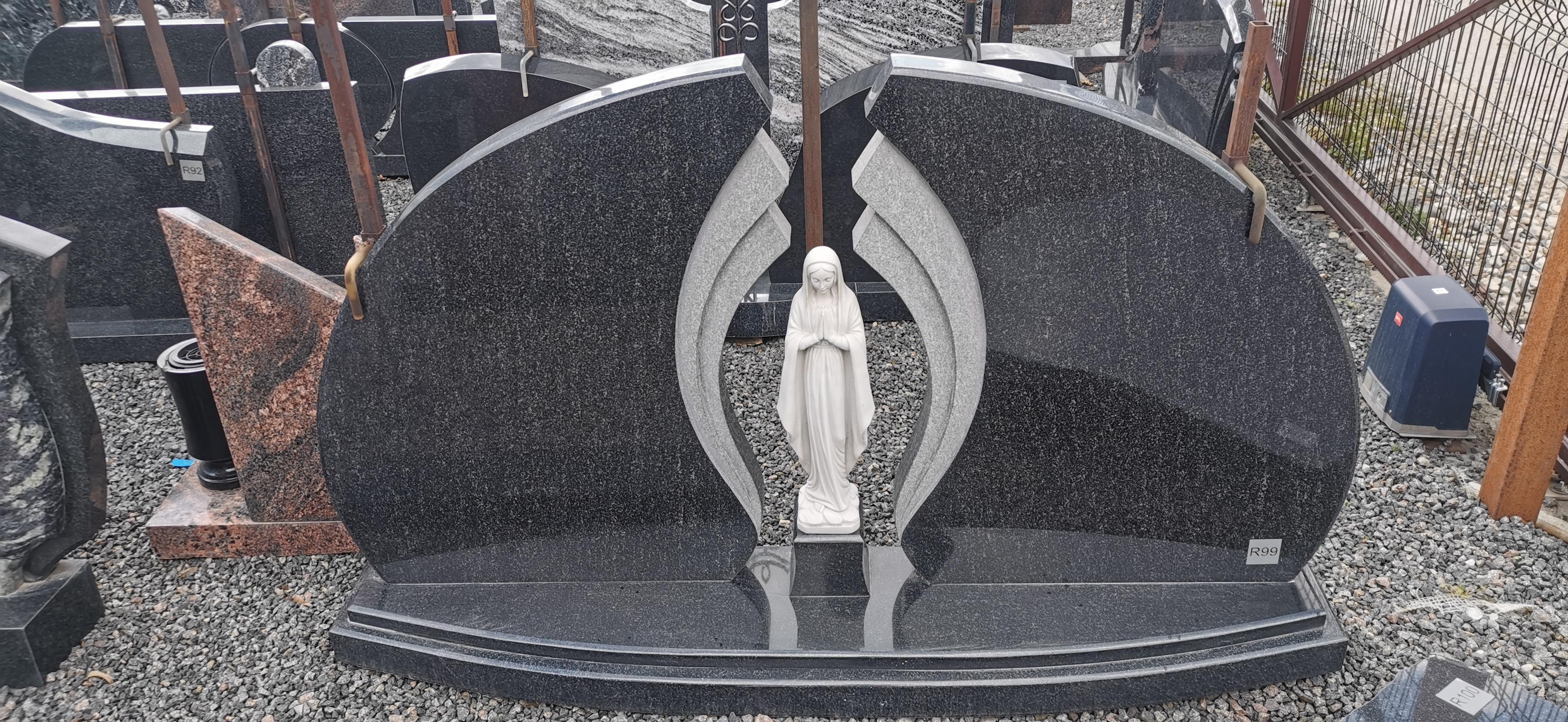 Dviejų dalių paminklas su marijos skulptūra